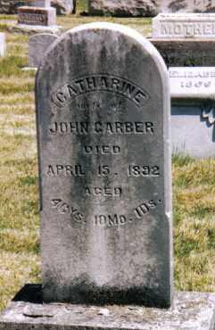 GARBER, CATHARINE - Montgomery County, Ohio | CATHARINE GARBER - Ohio Gravestone Photos