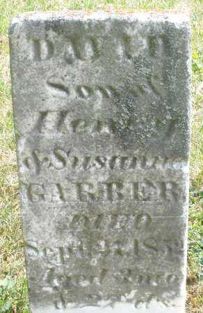 GARBER, DAVID - Montgomery County, Ohio   DAVID GARBER - Ohio Gravestone Photos