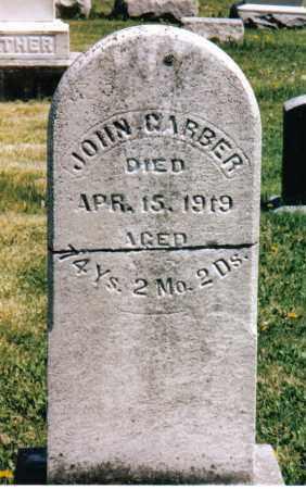 GARBER, JOHN - Montgomery County, Ohio   JOHN GARBER - Ohio Gravestone Photos