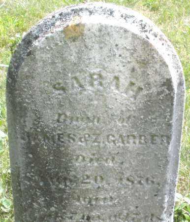 GARBER, SARAH - Montgomery County, Ohio   SARAH GARBER - Ohio Gravestone Photos