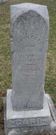 GARD, SUSANNA - Montgomery County, Ohio   SUSANNA GARD - Ohio Gravestone Photos