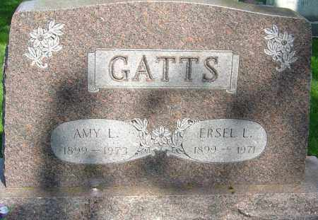 GATTS, ERSEL L - Montgomery County, Ohio | ERSEL L GATTS - Ohio Gravestone Photos