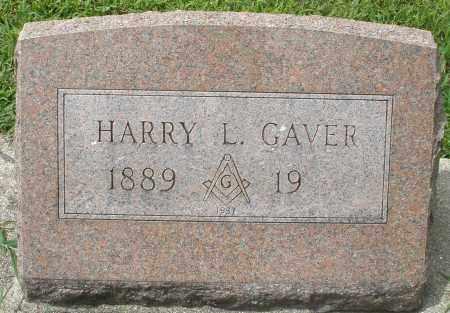 GAVER, HARRY L. - Montgomery County, Ohio | HARRY L. GAVER - Ohio Gravestone Photos