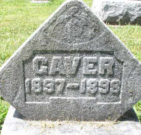 GAVER, JAMES - Montgomery County, Ohio | JAMES GAVER - Ohio Gravestone Photos