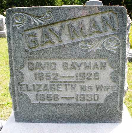 GAYMAN, ELIZABETH - Montgomery County, Ohio   ELIZABETH GAYMAN - Ohio Gravestone Photos