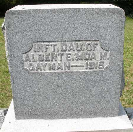 GAYMAN, INFANT DAUGHTER - Montgomery County, Ohio | INFANT DAUGHTER GAYMAN - Ohio Gravestone Photos