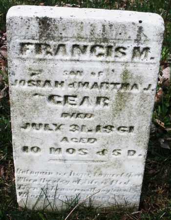 GEAR, FRANCIS  M - Montgomery County, Ohio | FRANCIS  M GEAR - Ohio Gravestone Photos