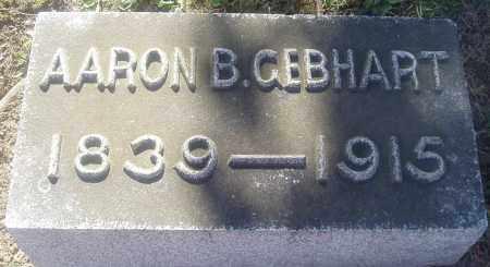GEBHART, AARON B. - Montgomery County, Ohio | AARON B. GEBHART - Ohio Gravestone Photos