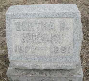 GEBHART, BERTHA C. - Montgomery County, Ohio   BERTHA C. GEBHART - Ohio Gravestone Photos