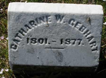 GEBHART, CATHARINE W. - Montgomery County, Ohio | CATHARINE W. GEBHART - Ohio Gravestone Photos