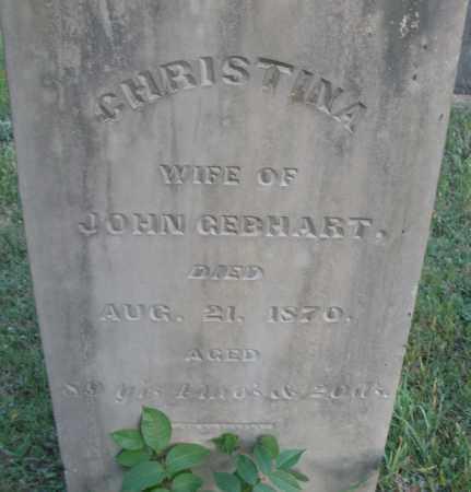 GEBHART, CHRISTINA - Montgomery County, Ohio   CHRISTINA GEBHART - Ohio Gravestone Photos