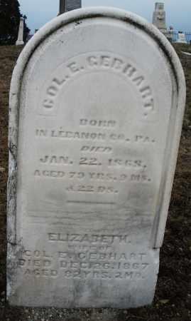 GEBHART, ELIZABETH - Montgomery County, Ohio   ELIZABETH GEBHART - Ohio Gravestone Photos