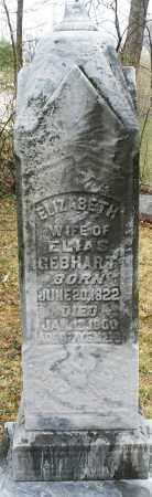 GEBHART, ELIZABETH - Montgomery County, Ohio | ELIZABETH GEBHART - Ohio Gravestone Photos