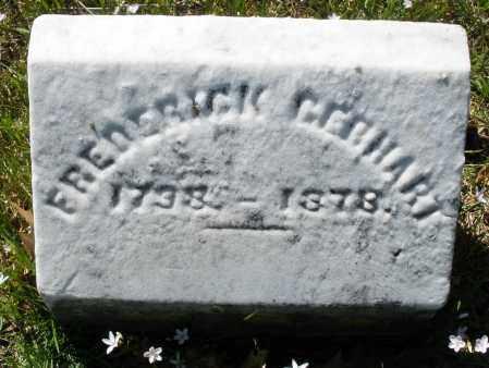GEBHART, FREDERICK - Montgomery County, Ohio | FREDERICK GEBHART - Ohio Gravestone Photos