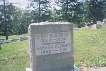 GEBHART, HENRY WELLINGTON - Montgomery County, Ohio | HENRY WELLINGTON GEBHART - Ohio Gravestone Photos