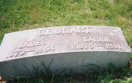 GEBHART, CARRIE ELIZABETH - Montgomery County, Ohio | CARRIE ELIZABETH GEBHART - Ohio Gravestone Photos