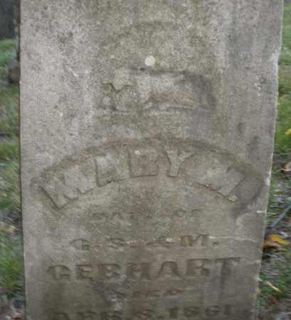 GEBHART, MARY M. - Montgomery County, Ohio | MARY M. GEBHART - Ohio Gravestone Photos