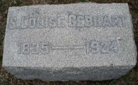 GEBHART, S. LOUISE - Montgomery County, Ohio | S. LOUISE GEBHART - Ohio Gravestone Photos