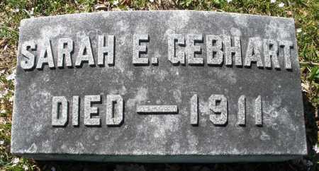 GEBHART, SARAH E. - Montgomery County, Ohio | SARAH E. GEBHART - Ohio Gravestone Photos