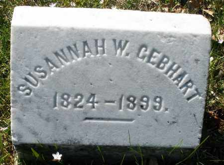 GEBHART, SUSANNAH W. - Montgomery County, Ohio   SUSANNAH W. GEBHART - Ohio Gravestone Photos