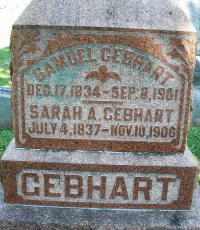 GEBHART, SAMUEL - Montgomery County, Ohio | SAMUEL GEBHART - Ohio Gravestone Photos