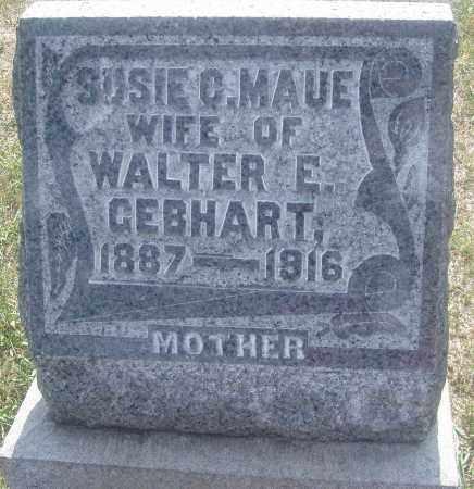 MAUE GEBHART, SUSIE C. - Montgomery County, Ohio   SUSIE C. MAUE GEBHART - Ohio Gravestone Photos