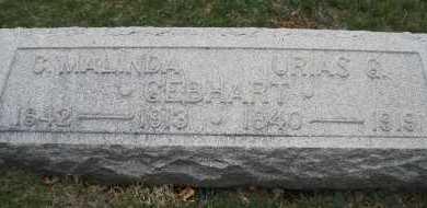 GEBHART, C. MALINDA - Montgomery County, Ohio | C. MALINDA GEBHART - Ohio Gravestone Photos