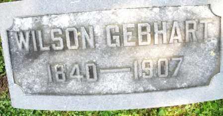 GEBHART, WILSON - Montgomery County, Ohio | WILSON GEBHART - Ohio Gravestone Photos