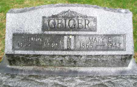 GEIGER, MARY E. - Montgomery County, Ohio | MARY E. GEIGER - Ohio Gravestone Photos
