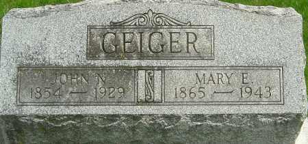 GEIGER, MARY E - Montgomery County, Ohio | MARY E GEIGER - Ohio Gravestone Photos