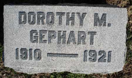 GEPHART, DOROTHY M. - Montgomery County, Ohio | DOROTHY M. GEPHART - Ohio Gravestone Photos