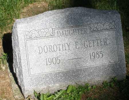 GETTER, DOROTHY E. - Montgomery County, Ohio   DOROTHY E. GETTER - Ohio Gravestone Photos