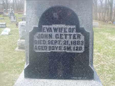 SNEPP GETTER, MARIA EVA - Montgomery County, Ohio   MARIA EVA SNEPP GETTER - Ohio Gravestone Photos