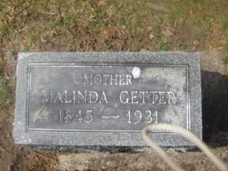 GETTER, MALINDA M. - Montgomery County, Ohio | MALINDA M. GETTER - Ohio Gravestone Photos