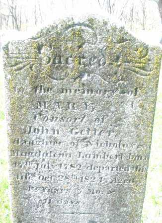 GETTER, MARY - Montgomery County, Ohio | MARY GETTER - Ohio Gravestone Photos