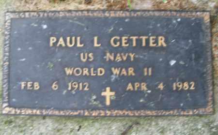 GETTER, PAUL L. - Montgomery County, Ohio | PAUL L. GETTER - Ohio Gravestone Photos