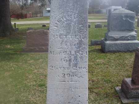 GETTER, PERRY - Montgomery County, Ohio | PERRY GETTER - Ohio Gravestone Photos