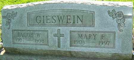 GIESWEIN, JACOB W - Montgomery County, Ohio   JACOB W GIESWEIN - Ohio Gravestone Photos