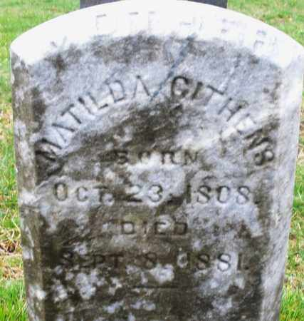 GITHENS, MATILDA - Montgomery County, Ohio | MATILDA GITHENS - Ohio Gravestone Photos