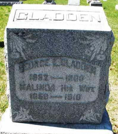 GLADDEN, MALINDA - Montgomery County, Ohio | MALINDA GLADDEN - Ohio Gravestone Photos