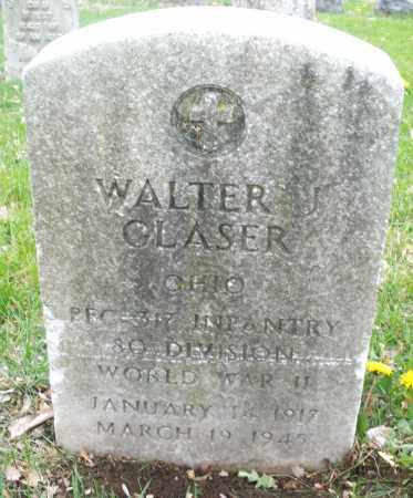 GLASER, WALTER - Montgomery County, Ohio | WALTER GLASER - Ohio Gravestone Photos