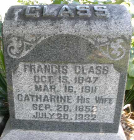 GLASS, FRANCIS - Montgomery County, Ohio | FRANCIS GLASS - Ohio Gravestone Photos