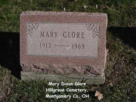 DIXON GLORE, MARY - Montgomery County, Ohio | MARY DIXON GLORE - Ohio Gravestone Photos
