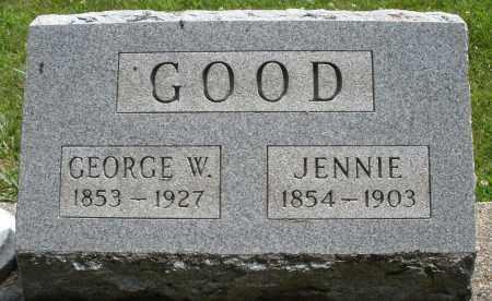 GOOD, JENNIE - Montgomery County, Ohio | JENNIE GOOD - Ohio Gravestone Photos