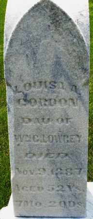 GORDON, LOUISA A. - Montgomery County, Ohio | LOUISA A. GORDON - Ohio Gravestone Photos