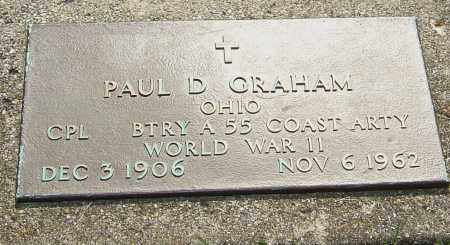 GRAHAM, PAUL D - Montgomery County, Ohio   PAUL D GRAHAM - Ohio Gravestone Photos