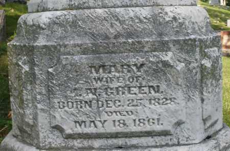 GREEN, MARY - Montgomery County, Ohio   MARY GREEN - Ohio Gravestone Photos