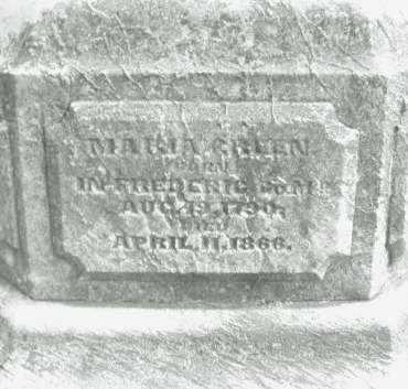 GREEN, MARIA - Montgomery County, Ohio   MARIA GREEN - Ohio Gravestone Photos