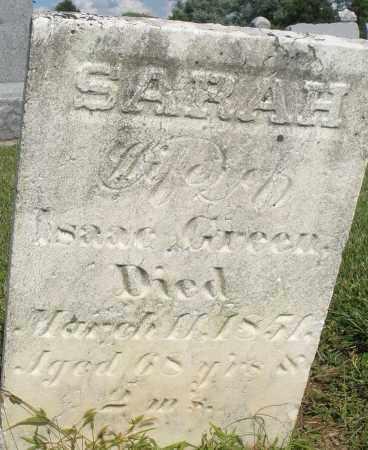 GREEN, SARAH - Montgomery County, Ohio | SARAH GREEN - Ohio Gravestone Photos