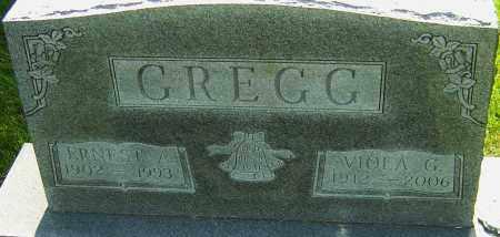 GREGG, ERNEST A - Montgomery County, Ohio | ERNEST A GREGG - Ohio Gravestone Photos